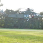 Helicopter landing in Beaumont